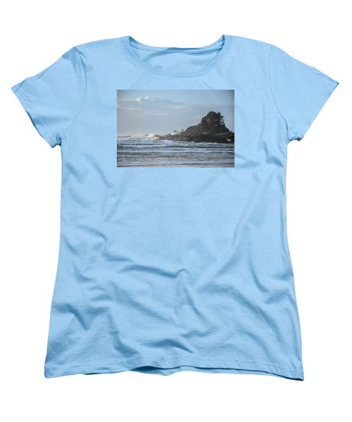 Cox Bay Afternoon Waves Women's T-Shirt (Standard Cut) by Roxy Hurtubise