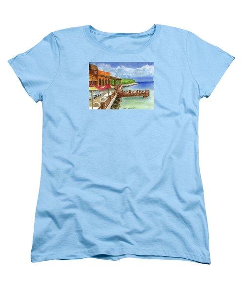 Cozumel Mexico Little Pier Women's T-Shirt (Standard Cut) by Frank Hunter