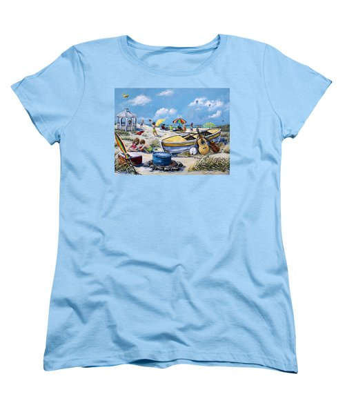 Crab Pickin Women's T-Shirt (Standard Cut) by Gail Butler