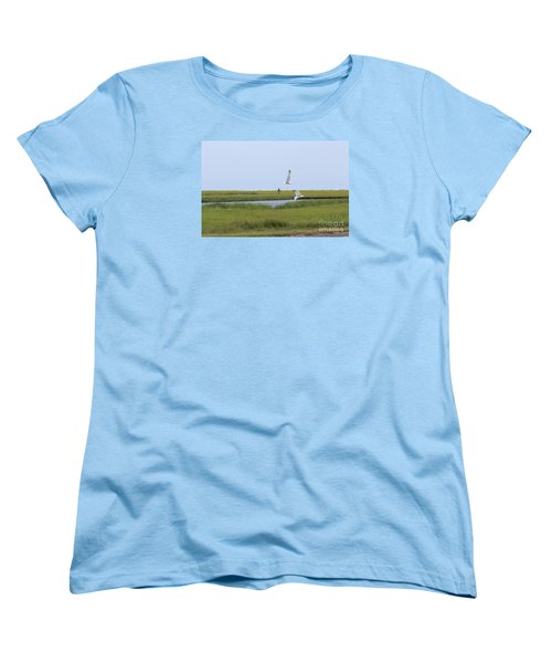 Women's T-Shirt (Standard Cut) featuring the photograph Crabber by David Jackson