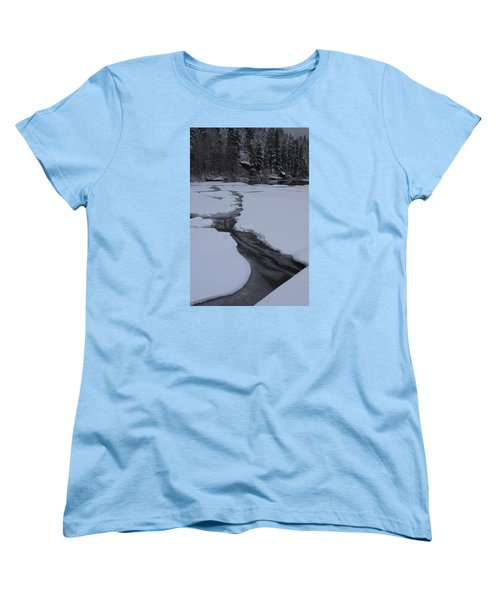 Cracked Ice  Women's T-Shirt (Standard Cut) by Duncan Selby