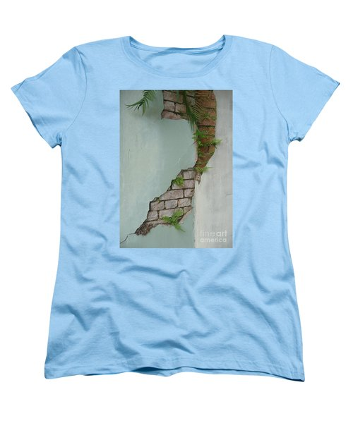 Cracked Women's T-Shirt (Standard Cut) by Valerie Reeves