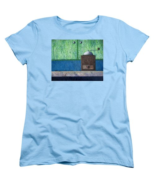 Women's T-Shirt (Standard Cut) featuring the painting Crafting Creation by A  Robert Malcom