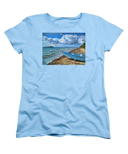 Crash Boat Women's T-Shirt (Standard Cut) by Daniel Sheldon