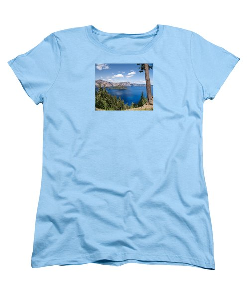 Women's T-Shirt (Standard Cut) featuring the photograph Crater Lake National Park by Diane Schuster