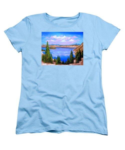 Crater Lake Oregon Women's T-Shirt (Standard Cut) by Patrice Torrillo
