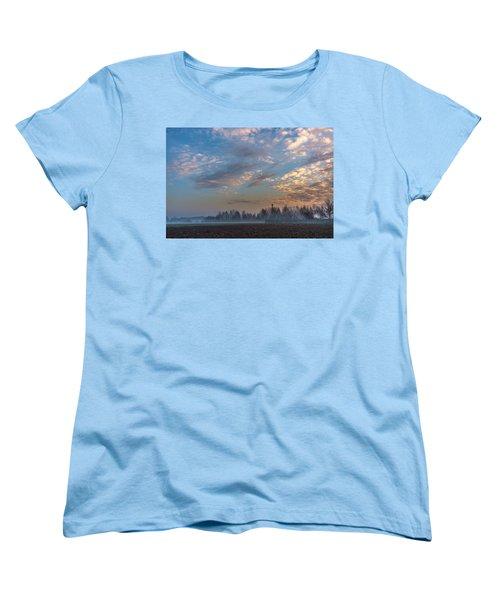 Crawling Mist Women's T-Shirt (Standard Cut) by Tgchan