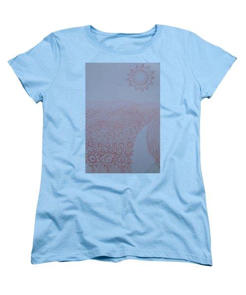 Crazy Quilt Star Gown Women's T-Shirt (Standard Cut) by Thomasina Durkay