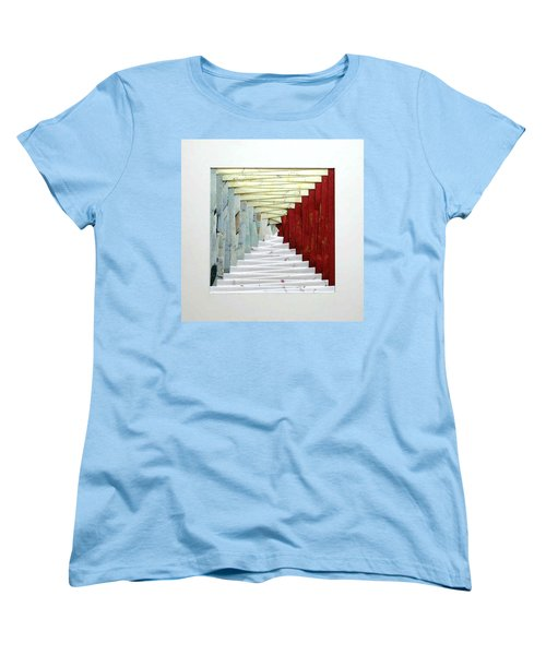 Crooked Staircase Women's T-Shirt (Standard Cut) by Ron Davidson