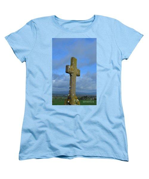 Cross At Cashel Women's T-Shirt (Standard Cut) by DejaVu Designs