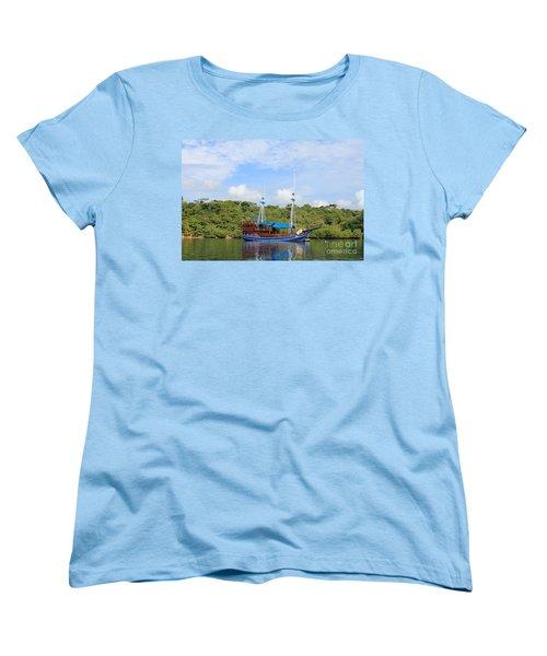 Cruising Yacht Women's T-Shirt (Standard Cut) by Sergey Lukashin