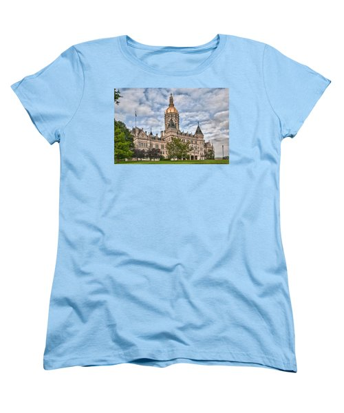Ct State Capitol Building Women's T-Shirt (Standard Cut) by Guy Whiteley