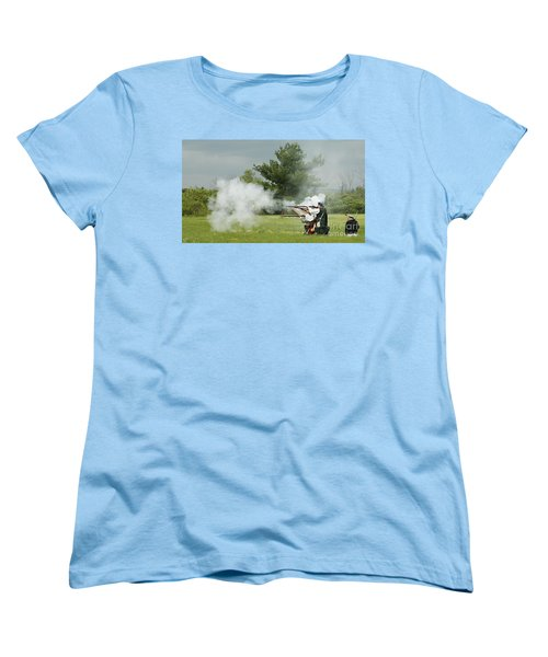 Women's T-Shirt (Standard Cut) featuring the photograph Culloden Jacobites by Carol Lynn Coronios