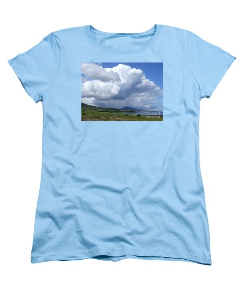 Women's T-Shirt (Standard Cut) featuring the photograph Cumulus Clouds - Isle Of Skye by Phil Banks