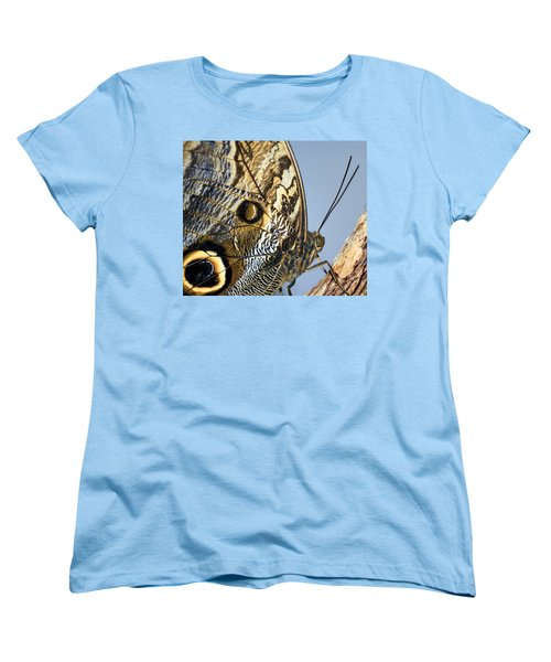 Curve Of A Butterfly Women's T-Shirt (Standard Cut) by Sonya Lang