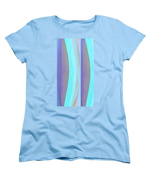 Women's T-Shirt (Standard Cut) featuring the painting Curves2 by Stephanie Grant
