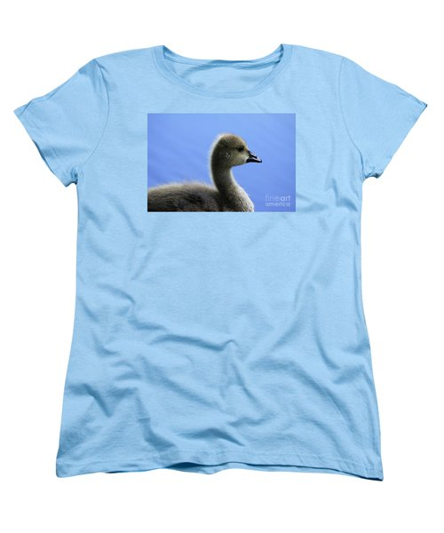 Women's T-Shirt (Standard Cut) featuring the photograph Cygnet by Alyce Taylor