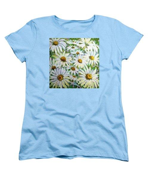 Daisies Women's T-Shirt (Standard Cut) by Jeanette Jarmon
