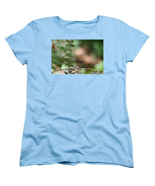Women's T-Shirt (Standard Cut) featuring the photograph Damselfly by Neal Eslinger