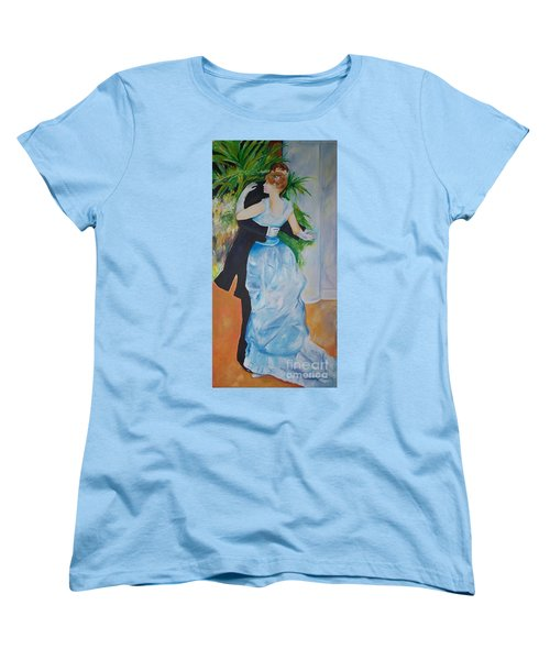 Women's T-Shirt (Standard Cut) featuring the painting Dance In The City  by Eric  Schiabor