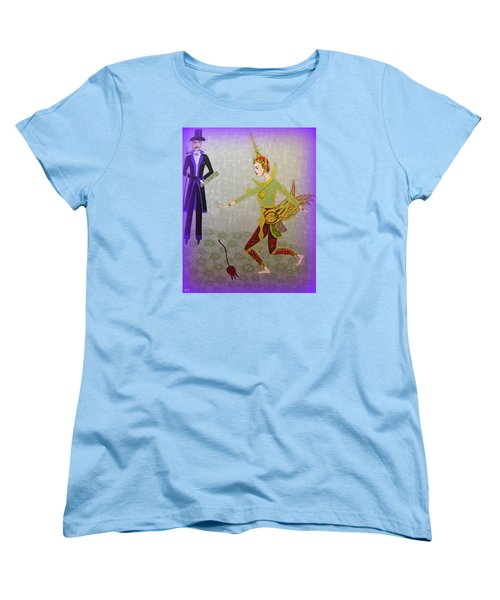 Women's T-Shirt (Standard Cut) featuring the painting Dance Of A Nymph by Marie Schwarzer