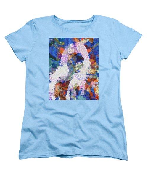 Women's T-Shirt (Standard Cut) featuring the painting Dance Of Fools by Joe Misrasi