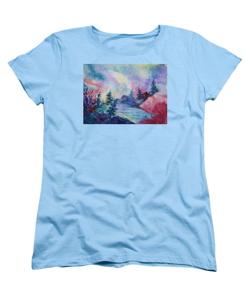 Dancing Lights II Women's T-Shirt (Standard Cut) by Ellen Levinson