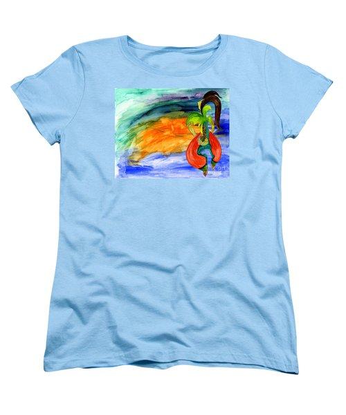 Dancing Tree Of Life Women's T-Shirt (Standard Cut) by Mukta Gupta