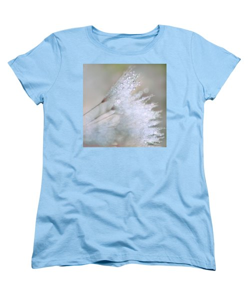 Women's T-Shirt (Standard Cut) featuring the photograph Dandelion Bling Bokeh by Peggy Collins