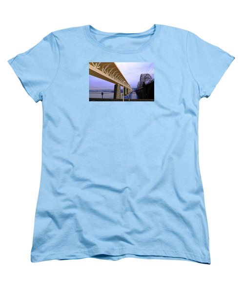 Darnitsky Bridge Women's T-Shirt (Standard Cut) by Oleg Zavarzin