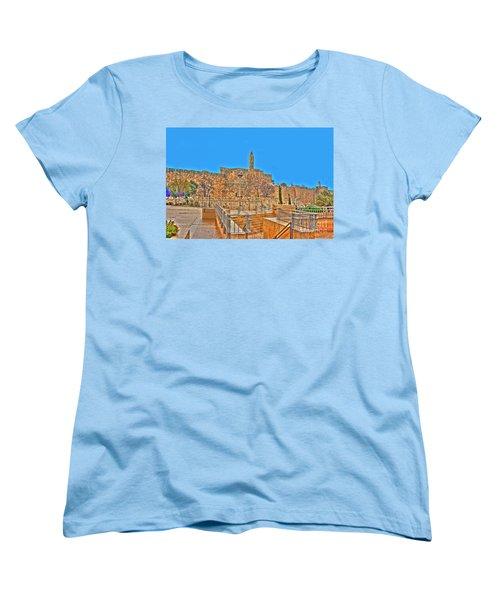Women's T-Shirt (Standard Cut) featuring the photograph Davids Citadel - Israel by Doc Braham