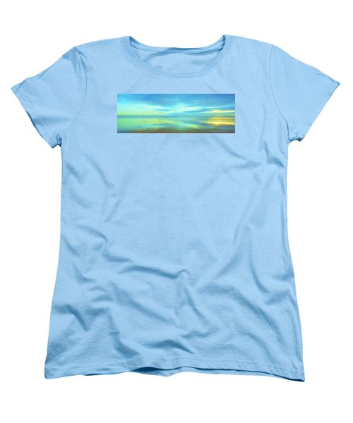 Women's T-Shirt (Standard Cut) featuring the painting Dawning Glory by Sophia Schmierer