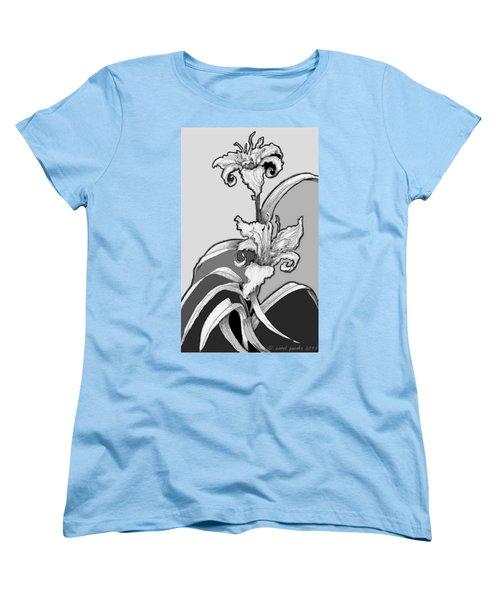 Day Lillies Women's T-Shirt (Standard Cut) by Carol Jacobs
