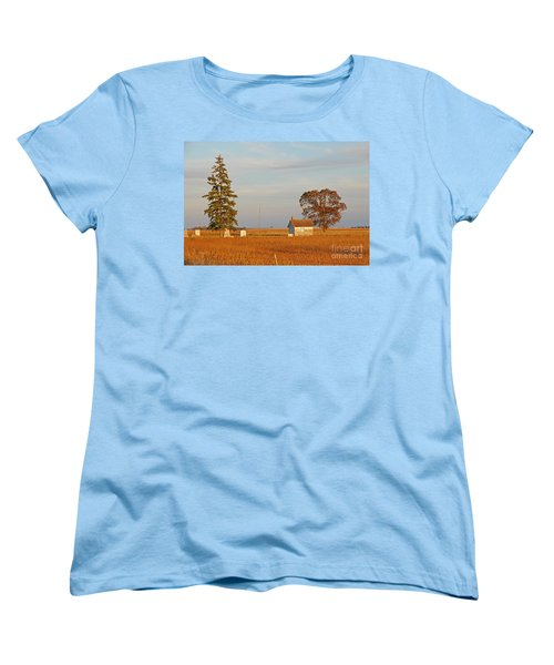 Women's T-Shirt (Standard Cut) featuring the photograph Days End by Mary Carol Story