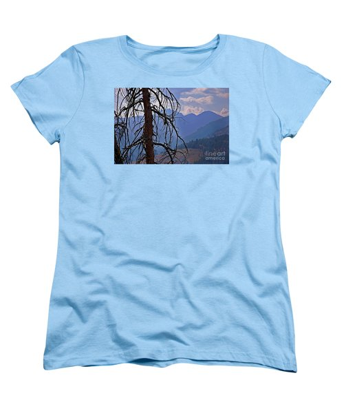 Women's T-Shirt (Standard Cut) featuring the photograph Dead Tree Mountains Landscape by Valerie Garner