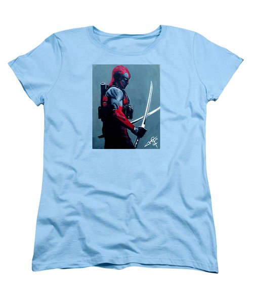 Deadpool Women's T-Shirt (Standard Cut) by Tom Carlton