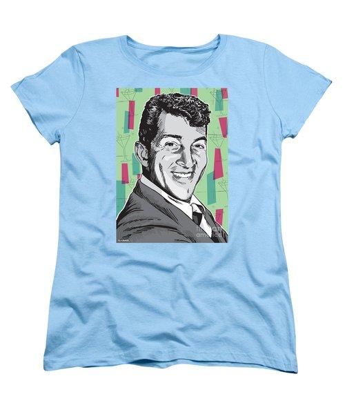 Dean Martin Pop Art Women's T-Shirt (Standard Cut) by Jim Zahniser