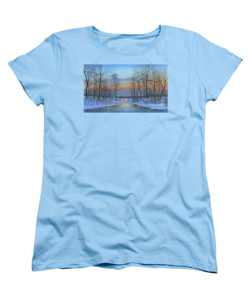 Women's T-Shirt (Standard Cut) featuring the painting December Solitude by Mike Brown