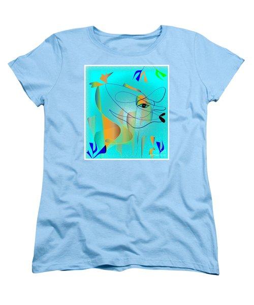 Women's T-Shirt (Standard Cut) featuring the digital art Deeep Below by Iris Gelbart