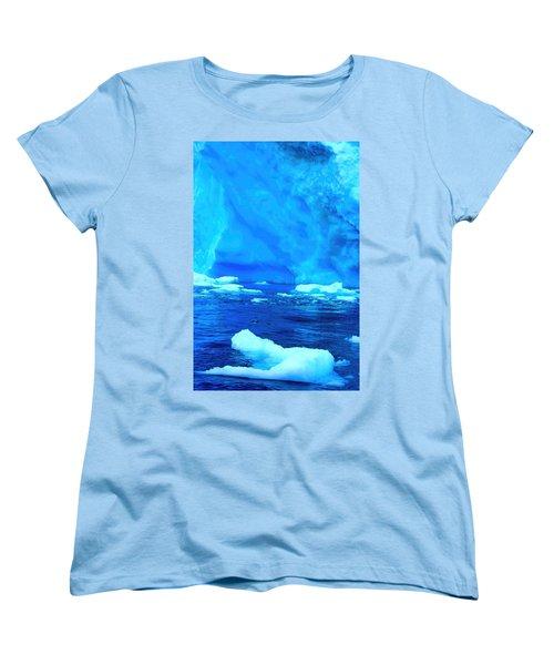 Women's T-Shirt (Standard Cut) featuring the photograph Deep Blue Iceberg by Amanda Stadther