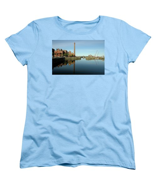 Deep Blue Reflections Women's T-Shirt (Standard Cut) by Jonah  Anderson
