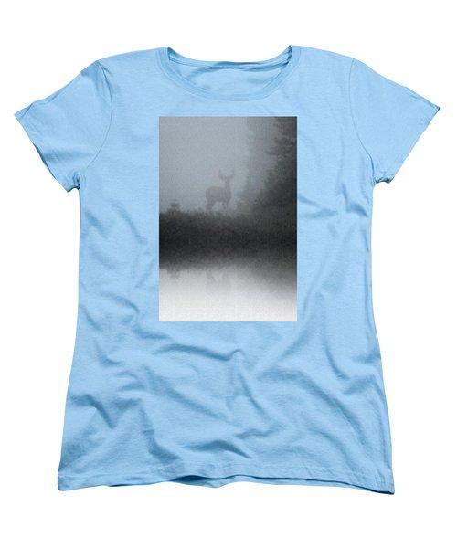 Deer Reflecting Women's T-Shirt (Standard Cut) by Diane Alexander