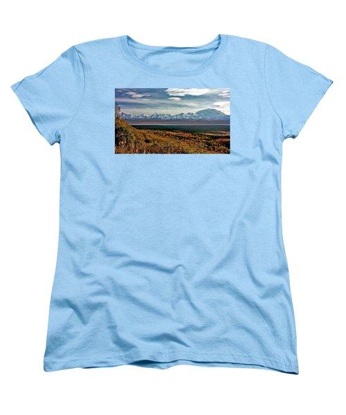 Women's T-Shirt (Standard Cut) featuring the photograph Denali Colors by Jeremy Rhoades