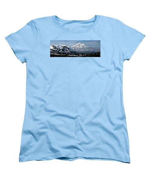 Women's T-Shirt (Standard Cut) featuring the photograph Denali National Park Panorama by John Haldane