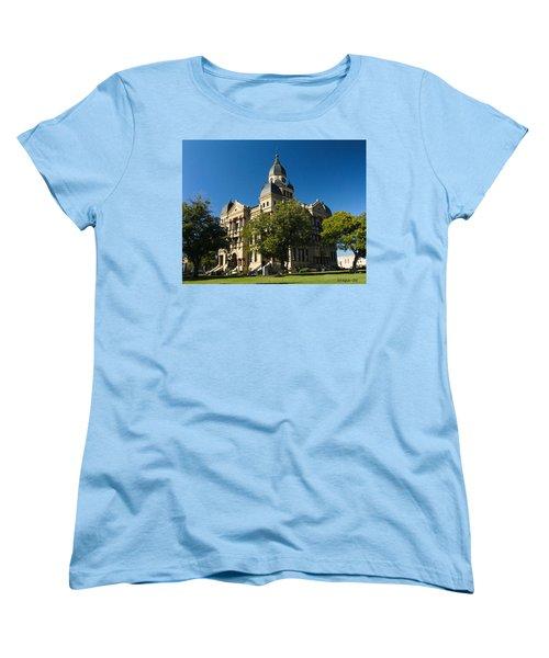 Denton County Courthouse Women's T-Shirt (Standard Cut) by Allen Sheffield