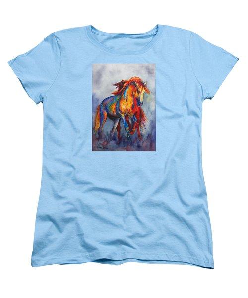 Women's T-Shirt (Standard Cut) featuring the painting Desert Dance by Karen Kennedy Chatham