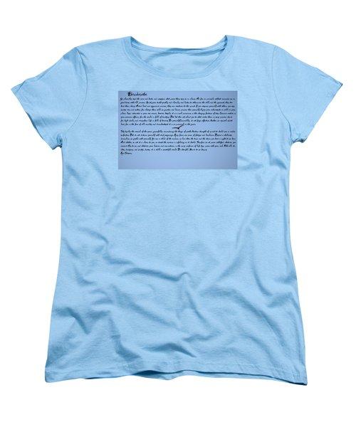 Desiderata Women's T-Shirt (Standard Cut) by Bill Cannon