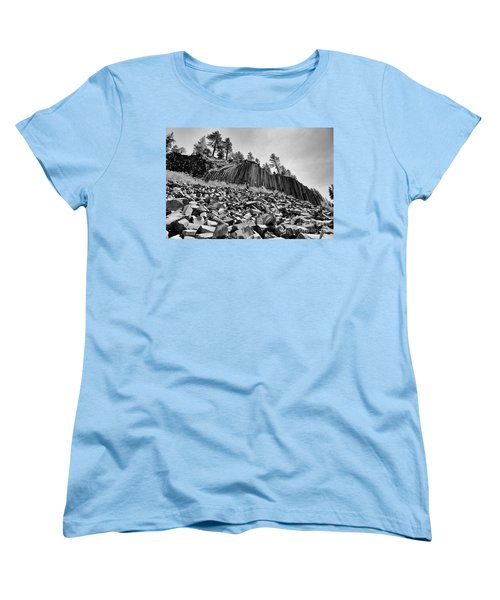 Devils Postpile National Monument Women's T-Shirt (Standard Cut) by Terry Garvin