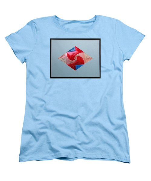Women's T-Shirt (Standard Cut) featuring the mixed media Diamond Design by Ron Davidson