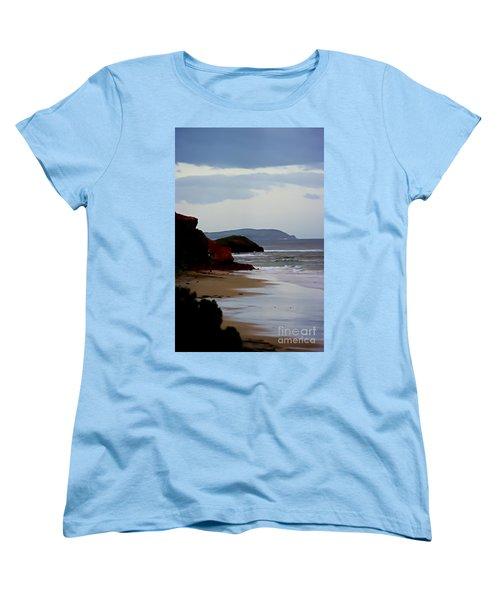 Digital Painting Of Smiths Beach Women's T-Shirt (Standard Cut) by Blair Stuart